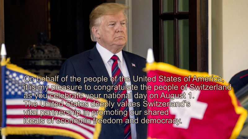 President Trump - Address to Swiss National Day