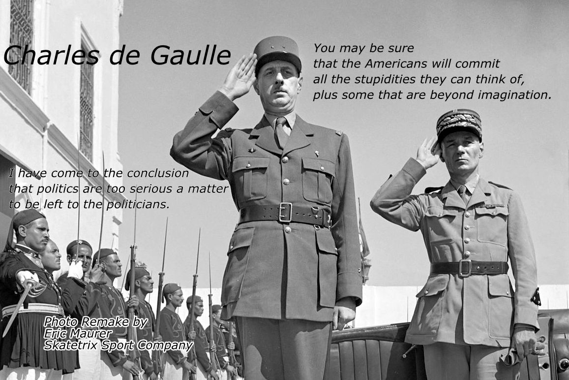 CHARLES DE GAULLE - Will you vote your political garden gnome again?